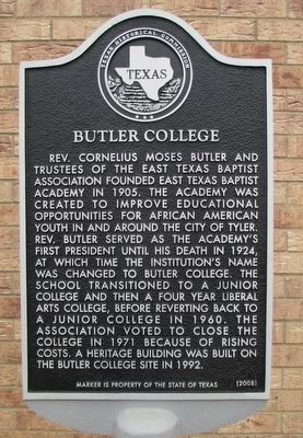Butler College Marker image. Click for full size.