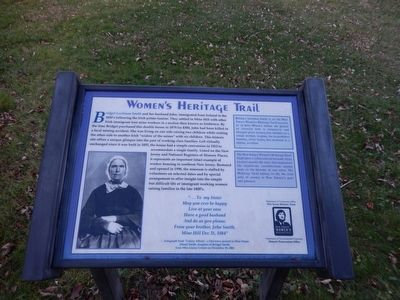 Women's Heritage Trail-Bridget Lockman Smith Marker image. Click for full size.