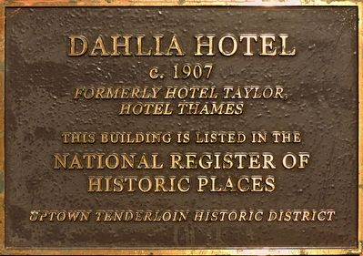 Dahlia Hotel Marker image. Click for full size.