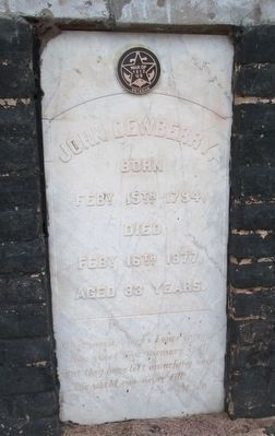 John Dewberry tombstone image. Click for full size.