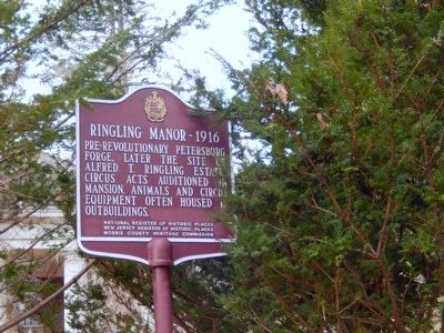 Ringling Manor-1916 Marker image. Click for full size.