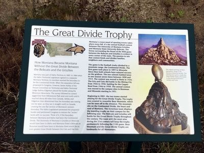 The Great Divide Trophy Marker image. Click for full size.