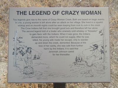 The Legend of Crazy Woman Marker image. Click for full size.