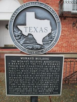 Woman's Building Marker image. Click for full size.