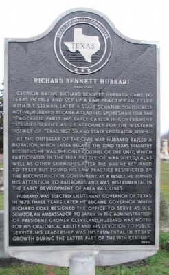 Richard Bennett Hubbard Marker image. Click for full size.