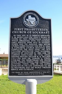 First Presbyterian Church of Lockhart Marker image. Click for full size.