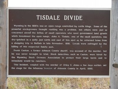 Tisdale Divide Marker image. Click for full size.