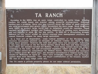 TA Ranch Marker image. Click for full size.