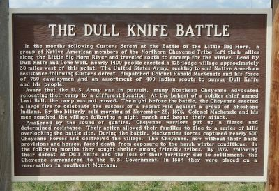 The Dull Knife Battle Marker image. Click for full size.