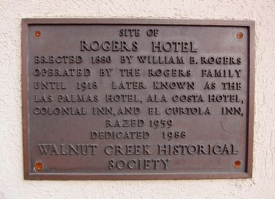 Site of Rogers Hotel Marker image. Click for full size.