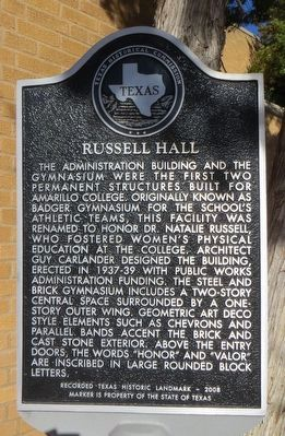Russell Hall Marker image. Click for full size.