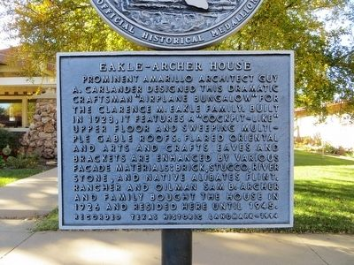 Eakle-Archer House Marker image. Click for full size.