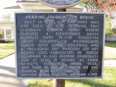 Herring-Crudgington House Marker image. Click for full size.