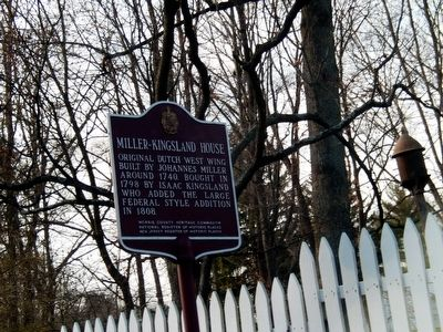Miller-Kingsland House Marker image. Click for full size.