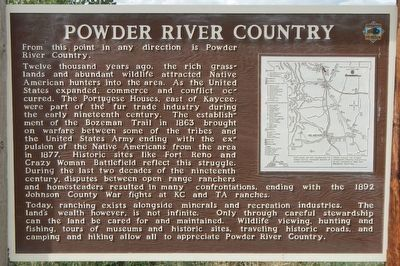 Powder River Country Marker image. Click for full size.