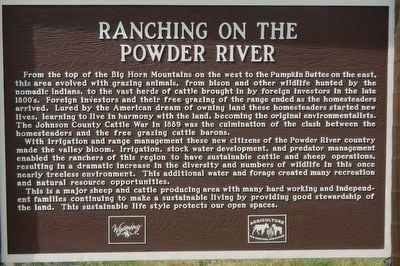 Ranching on the Powder River Marker image. Click for full size.