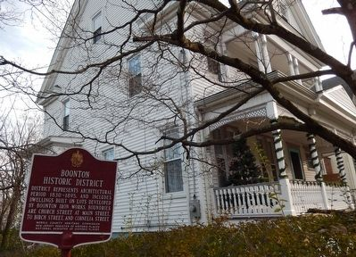 Boonton Historic District Marker image. Click for full size.