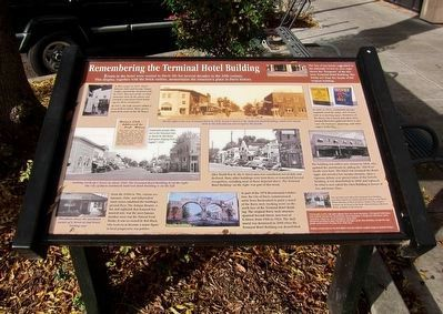 Remembering the Terminal Hotel Building Marker image. Click for full size.