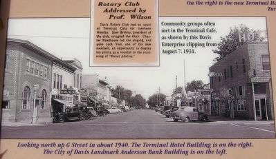 Remembering the Terminal Hotel Marker - Inset Photo image. Click for full size.