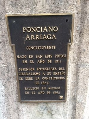 Ponciano Arriaga Marker image. Click for full size.