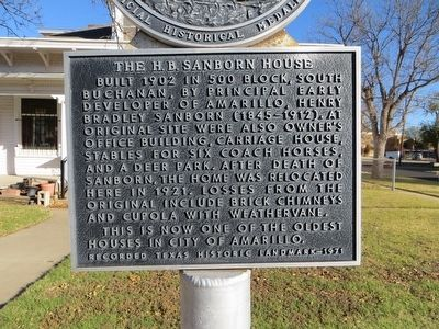H. B. Sanborn House Marker image. Click for full size.
