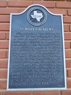 St. Mary's Academy Marker image. Click for full size.