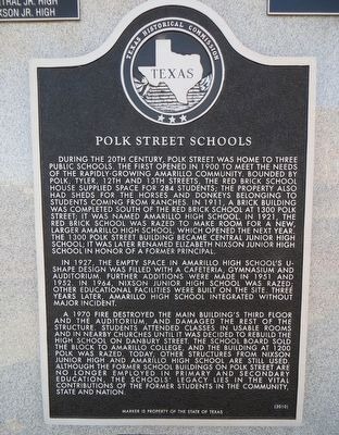 Polk Street Schools Marker image. Click for full size.