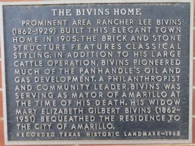 The Bivins Home Marker image. Click for full size.