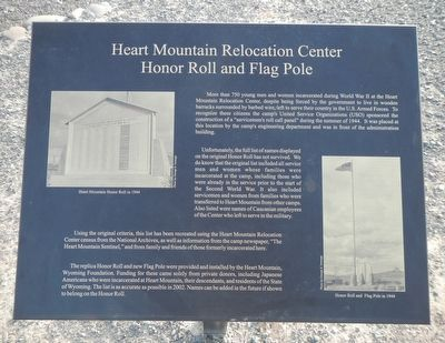 Honor Roll and Flag Pole Marker image. Click for full size.