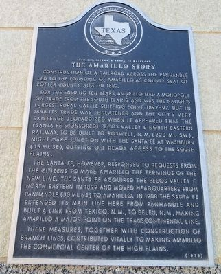The Amarillo Story Marker image. Click for full size.