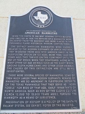 American Mammoths Marker image. Click for full size.