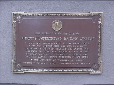 "Detroit's ""Underground Railway Station"" Marker image. Click for full size."