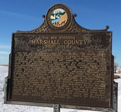Marshall County South Dakota Marker image. Click for full size.