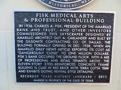 Fisk Medical Arts & Professional Building Marker image. Click for full size.