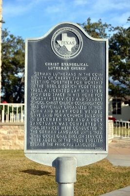 Christ Evangelical Lutheran Church Marker image. Click for full size.