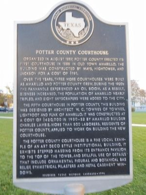 Potter County Courthouse Marker image. Click for full size.