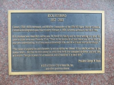 Rick Husband Marker image. Click for full size.