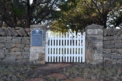 Marker at Entrance to Marschall - Meusebach Cemetery image. Click for full size.
