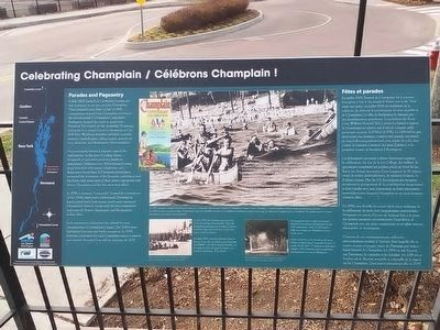 Celebrating Champlain Marker image. Click for full size.