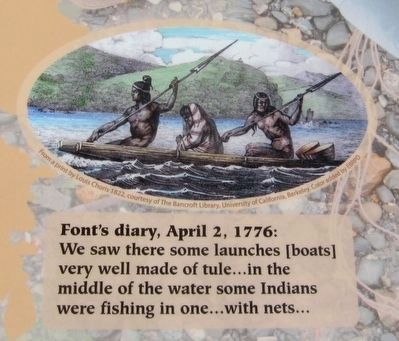 Anza Expedition of 1776 Marker - Inset image. Click for full size.