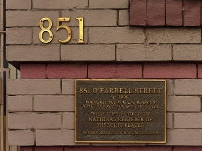 851 O'Farrell Street Marker image. Click for full size.