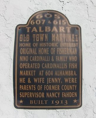 605, 607& 615 Talbart Marker image. Click for full size.