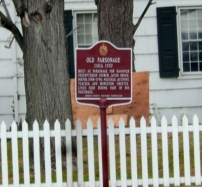 Old Parsonage Marker image. Click for full size.
