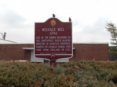 Melville Mill Marker image. Click for full size.