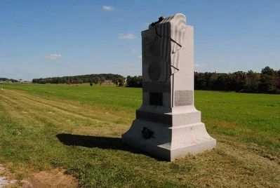 121st Pennsylvania Infantry Monument<br>Tree in Background of Earlier Pictures Has Been Removed image. Click for full size.