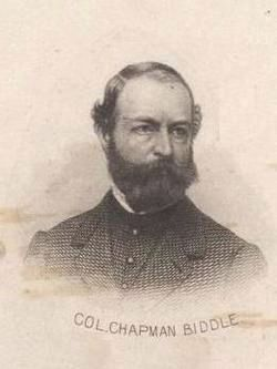 Col. Chapman Biddle (1822-1880) image. Click for full size.