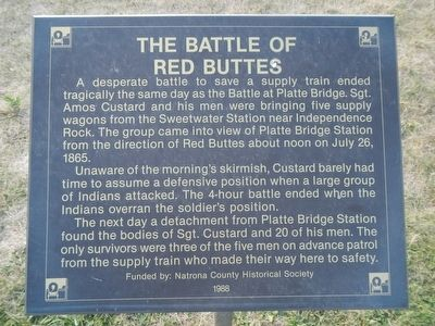 The Battle of Red Buttes Marker image. Click for full size.