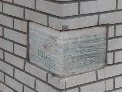 Bethel A.M.E. Church-Cornerstone image. Click for full size.