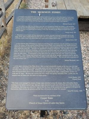 The Mormon Ferry Marker image. Click for full size.