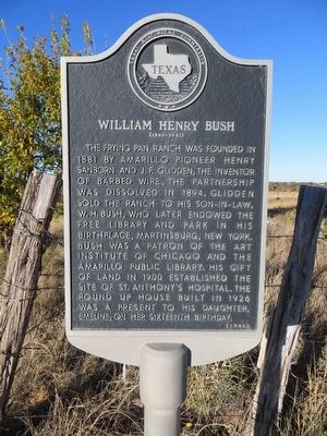 William Henry Bush Marker image. Click for full size.